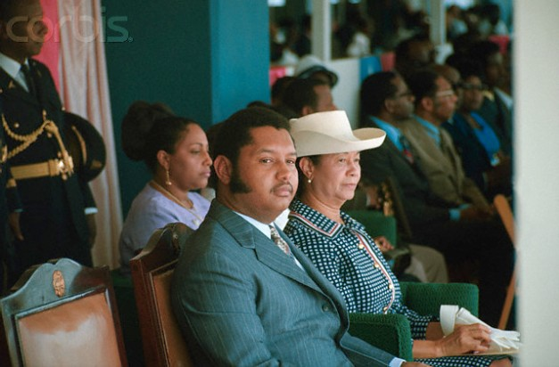 Jean-Claude Duvalier with His Mother