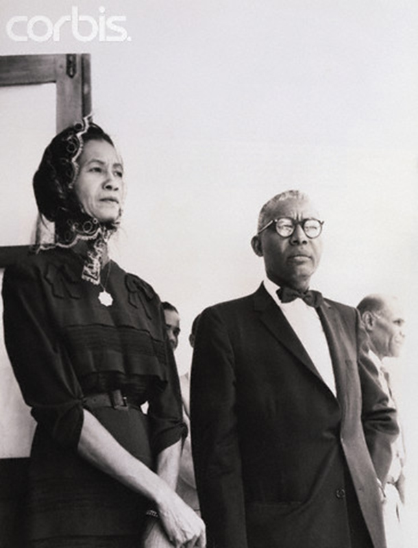 Dr. and Mrs. Francois Duvalier Waiting